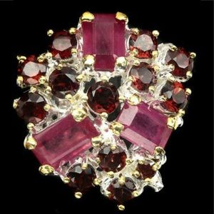 Royal Genuine Ruby and Mozambique Ring